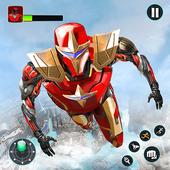Flying Robot Hero - Crime City Rescue Robot Games icon