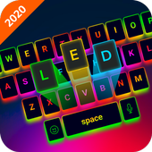 LED Lighting Keyboard - Emoji Keyboard, Fonts, GIF icon