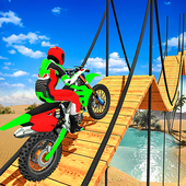 Tricky Bike Stunt Racing Tricks Impossible Tracks icon