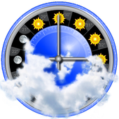 Weather station with barometer: eWeather HDF icon