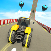 Mega Ramp Stunts Racing games: New Tractor games icon