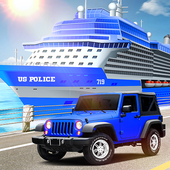 Us police car Transporter: Police Transport Game icon