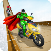 Superhero Scooter GT Stunt Game: Impossible Tracks icon