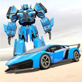 Police Robot Car Transform War : Mega Robot Games icon