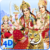 4D Maa Durga Live Wallpaper icon
