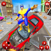Flying Superhero Robot Speed Hero icon