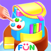 School Backpack Cake Maker-Lunch Hour Girly Game icon