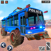 US Police Bus Demolition Derby Crash Stunts 2020 icon