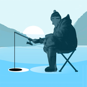 Ice fishing games for free. Fisherman simulator. icon