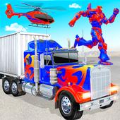 Grand Police Truck Robot War Transform Robot Games icon