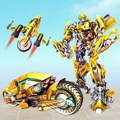 Grand Robot Bike Transform City Attack icon