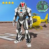 Flying Iron Hero Robot Battle City Crime icon
