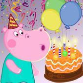 Kids birthday party icon