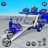 Police Bike Transport Truck icon
