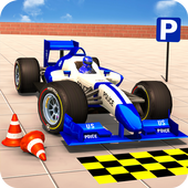 Police Formula Car Parking Simulator New Car Games icon