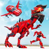 Dino Bot Transform Wars: Flying robot car games icon
