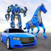 Horse Robot Car Game: Transform War Robot Games icon