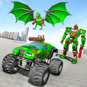 Monster Truck Robot Wars – New Dragon Robot Game icon