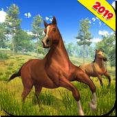 Wild Horse Family Simulator icon