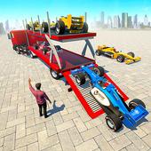 Formula Car Transport Truck icon