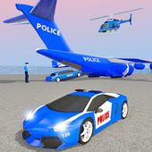 Police Airplane Transport: Grand Transporter Truck icon