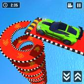 Mega Ramp Spiral Car Stunt Racing Games icon