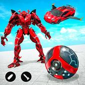 Red Ball Robot Car Transform: Flying Car Games icon