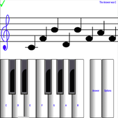 (light) learn sight read music notes piano tutor icon