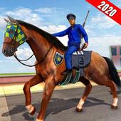 US Police Horse 2020: City Crime Shooting Game icon