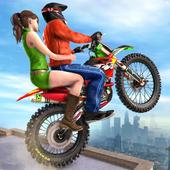 Rooftop Bike Stunt Racing: Taxi games 2020 icon