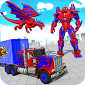 Flying Dragon Robot Army Truck Transforming Games icon