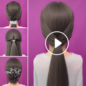 Hairstyles Step by Step Videos for Girls icon