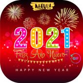 Happy New Year 2021 GIF 4K icon