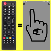 Remote SAMSUNG TV(until 2015)WiFi Simple No button icon