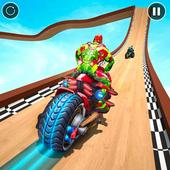 Superhero Robot Bike Stunt: Bike Stunt Games 2020 icon