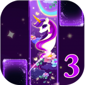 Magic Unicorn Piano tiles 3- Magic Tiles Hot Songs icon