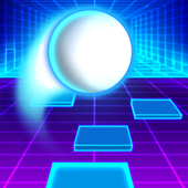 Super music jump ball icon