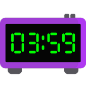 Full-screen digital clock. Timer. Alarm clock. icon