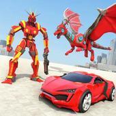 Dragon Robot Transforming Games: Car Robot Games icon