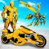 Flying Bee Robot Car Transforming Game: Robot Game icon