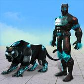 Flying Panther Robot Hero: Robot Black Hero Games icon