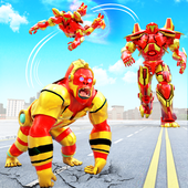 Angry Gorilla Robot Car Transformation: Robot Game icon
