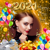 New Year 2021 Frame - New Year Greetings 2021 icon