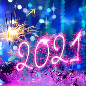 Happy New Year Wallpaper 2021 – Holiday Background icon