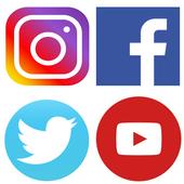 4 in 1-Social media icon