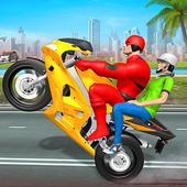 Superhero Bike Taxi Drive Game-Top Bike Games 2021 icon