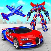 US Police Robot Car Transporter Police Plane Game icon