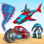 Shark Robot Car Game - Tornado Robot Bike Games 3d icon