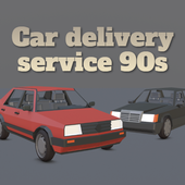 Car delivery service 90s icon
