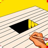 Как рисовать 3d рисунки icon
